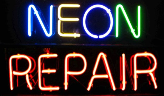 Neon Sign Repair Dollar Signs And